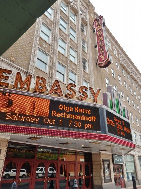 Embassy Theater Marquee and Sign image. Click for full size.