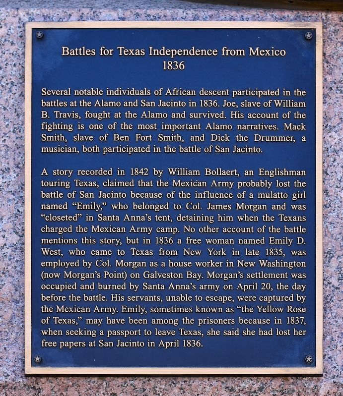 Battles for Texas Independence from Mexico Marker image. Click for full size.