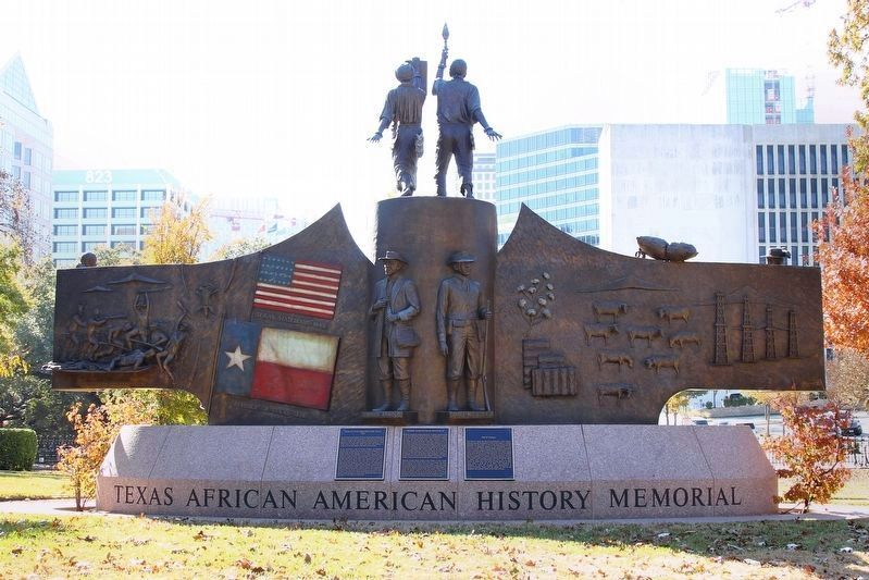 Texas African American History Memorial (back) image. Click for full size.
