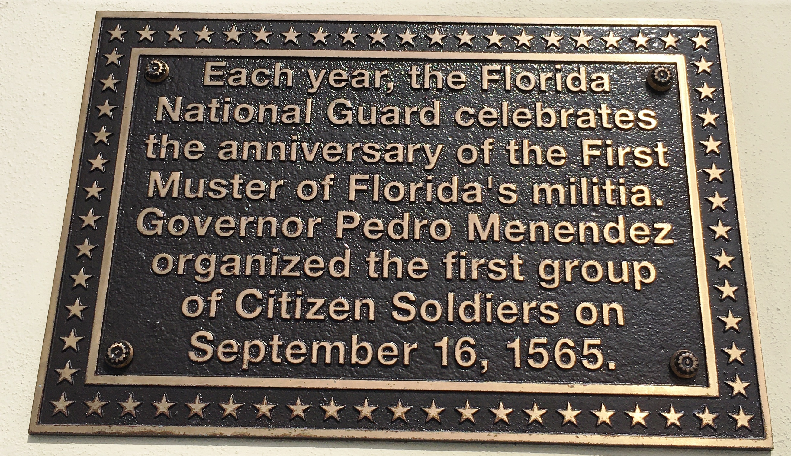 First Muster of Florida's Militia Marker