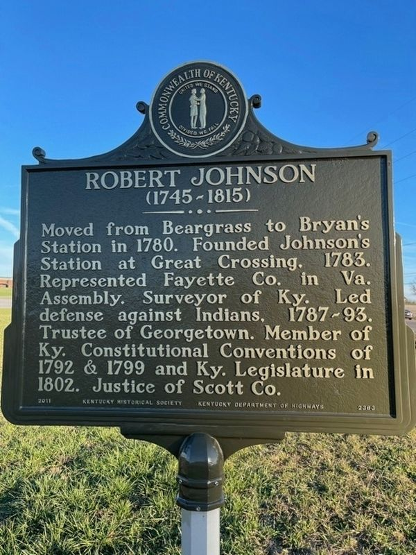 Robert Johnson and Jemima Suggett Johnson Marker image. Click for full size.