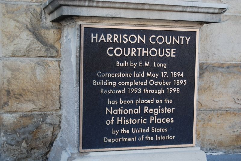 Harrison County Courthouse Marker image. Click for full size.