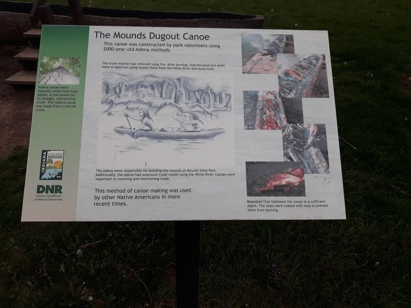 The Mounds Dugout Canoe Marker image. Click for full size.
