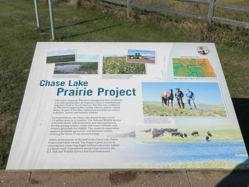 Chase Lake Prairie Project Marker image. Click for full size.