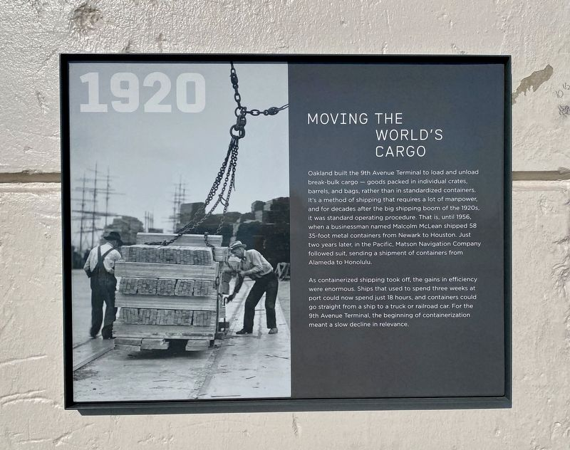 1920 Moving the World's Cargo Marker image. Click for full size.