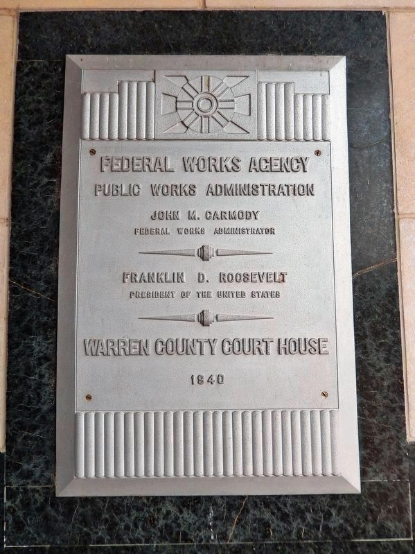 Federal Works Agency Marker image. Click for full size.