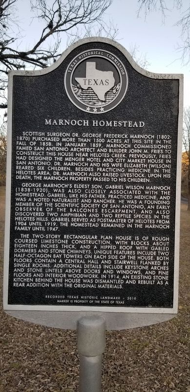 Marnoch Homestead Marker image. Click for full size.