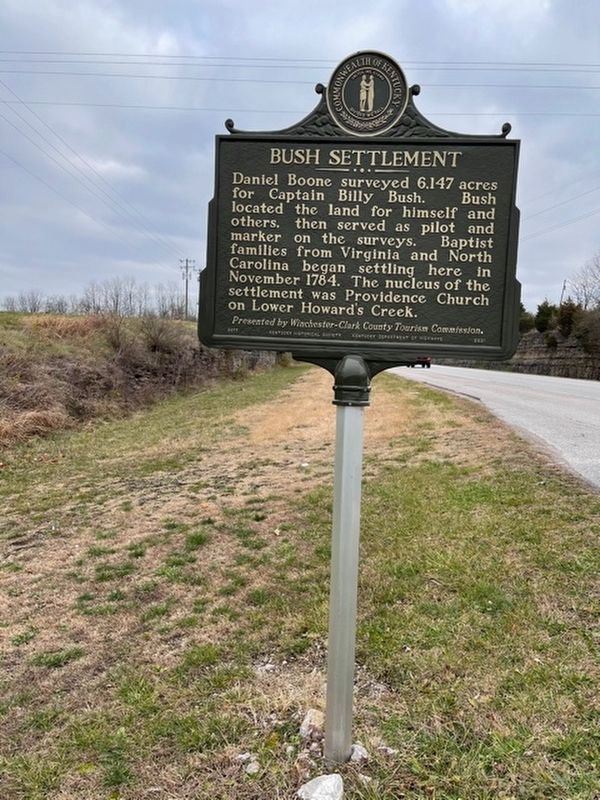 Bush Settlement side of the marker image. Click for full size.