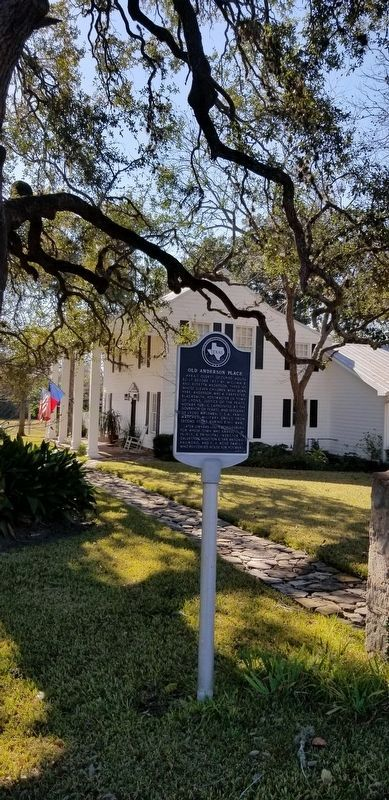 Old Anderson Place Marker with the house in the background image. Click for full size.