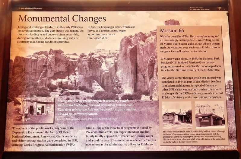 Monumental Changes Marker image. Click for full size.
