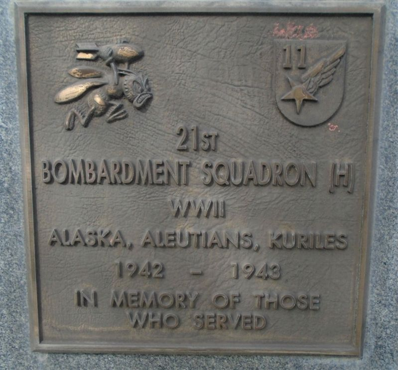 21st Bombardment Squadron (H) Marker image. Click for full size.