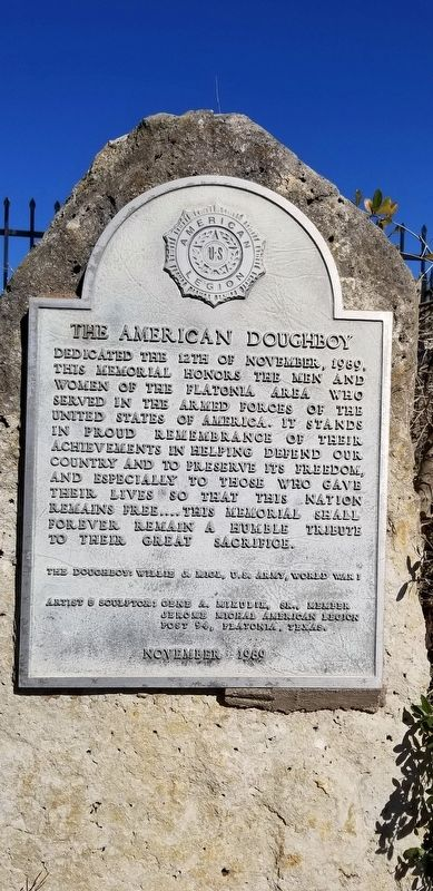 The American Doughboy Marker image. Click for full size.