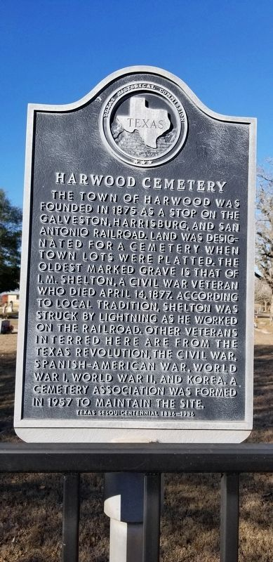 Harwood Cemetery Marker image. Click for full size.