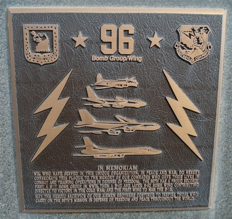 96 Bomb Group/Wing Marker image. Click for full size.