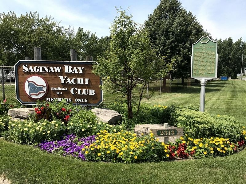Bay City Boating and Fishing Club Marker image. Click for full size.