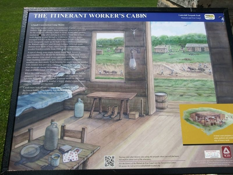 The Itinerant Worker's Cabin Marker image. Click for full size.