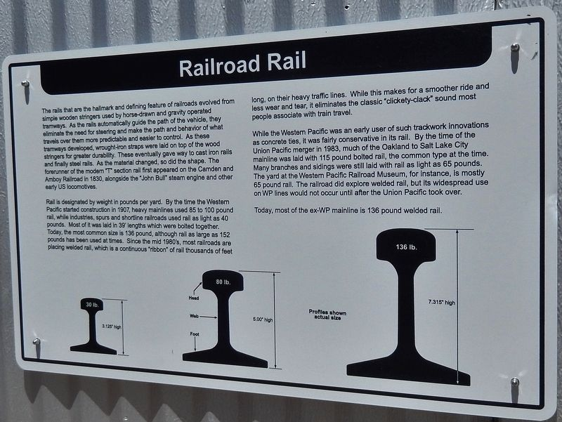 Railroad Rail Marker image. Click for full size.