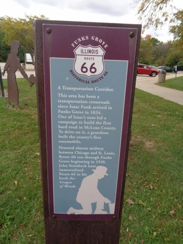 Having a Picnic / A Transportation Corridor Marker image. Click for full size.