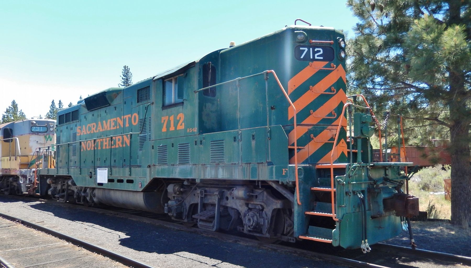 Sacramento Northern Locomotive #712 image. Click for full size.