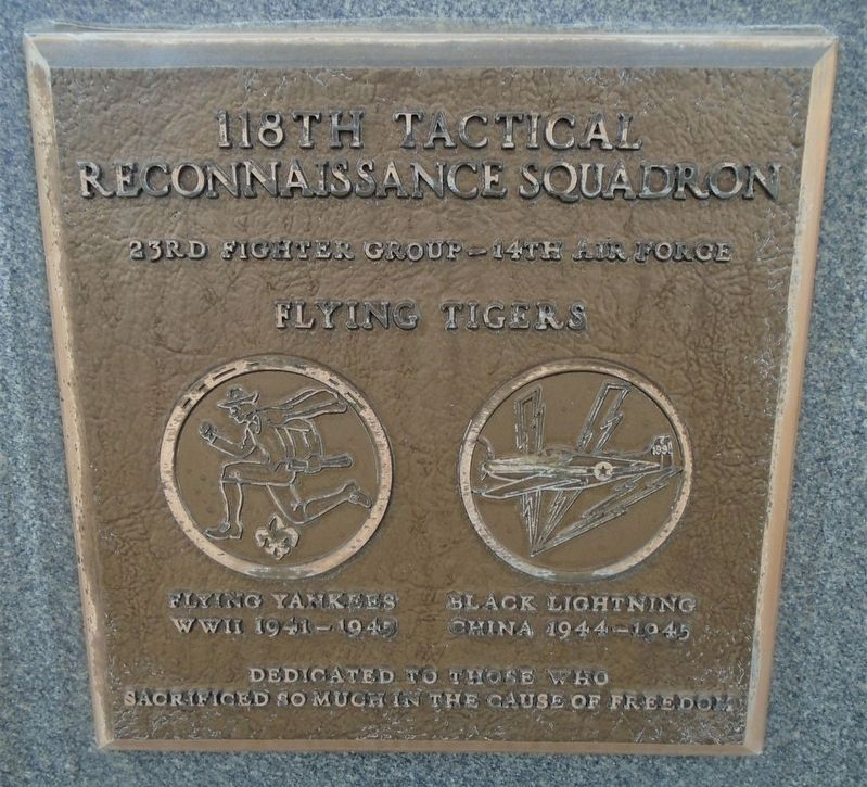 118th Tactical Reconnaissance Squadron Marker image. Click for full size.