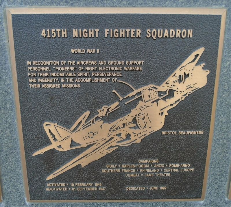 415th Night Fighter Squadron Marker image. Click for full size.