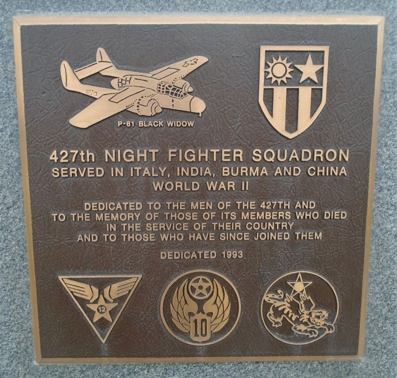 427th Night Fighter Squadron Marker image. Click for full size.