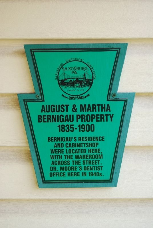 August & Martha Bernigau Property Marker image. Click for full size.