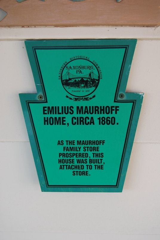 Emilius Maurhoff Home Marker image. Click for full size.
