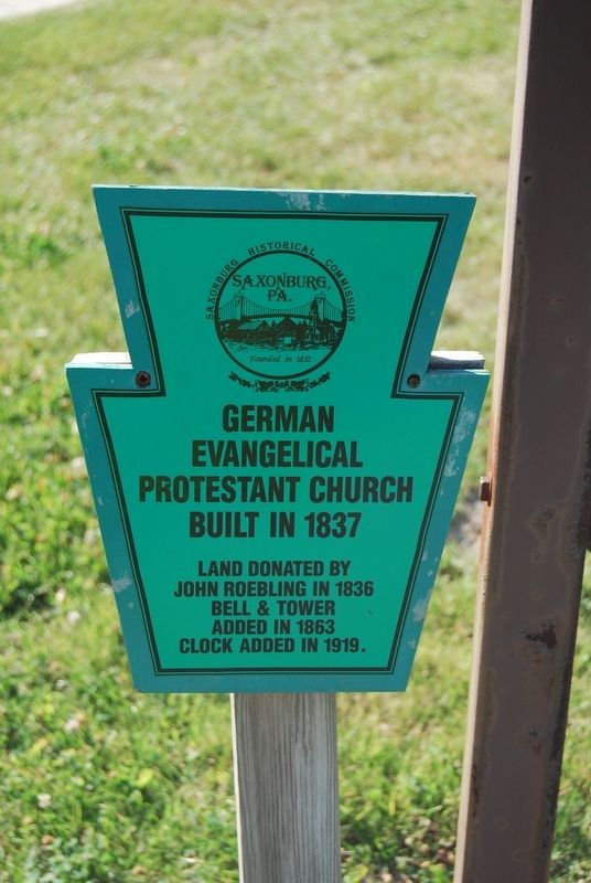 German Evangelical Protestant Church Marker image. Click for full size.