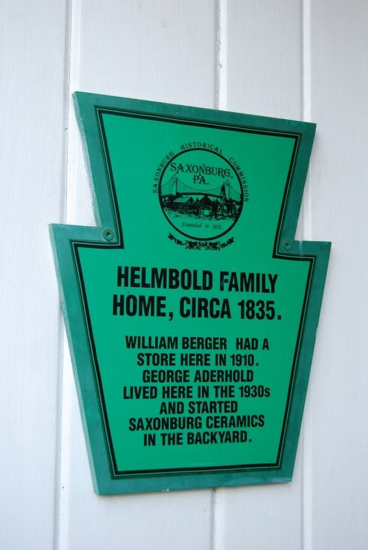 Helmbold Family Home Marker image. Click for full size.