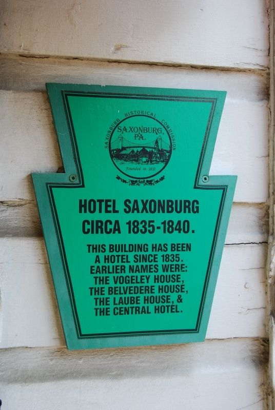 Hotel Saxonburg Marker image. Click for full size.