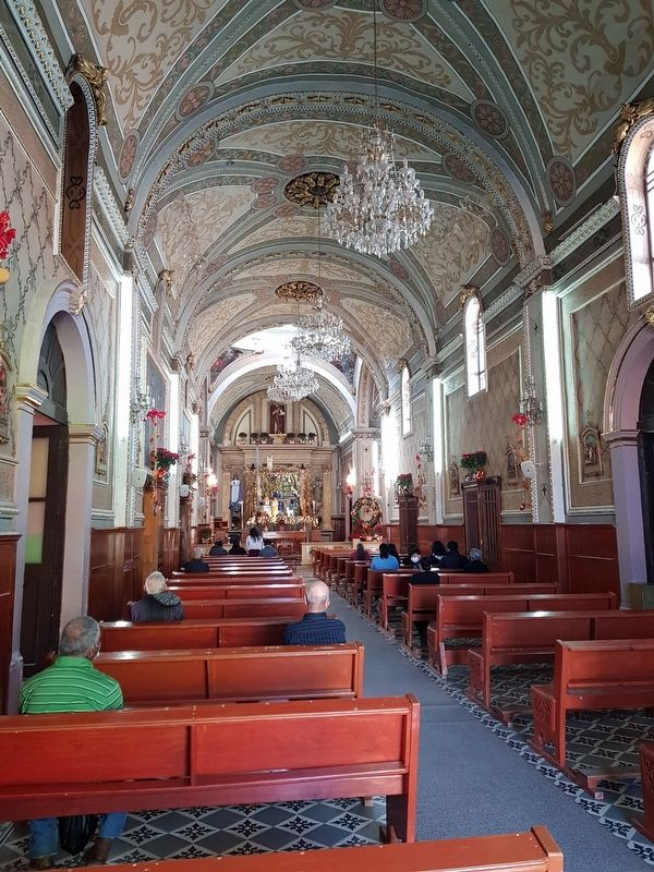 An interior view of the Parish of San Juan Bautista of Ocampo image. Click for full size.