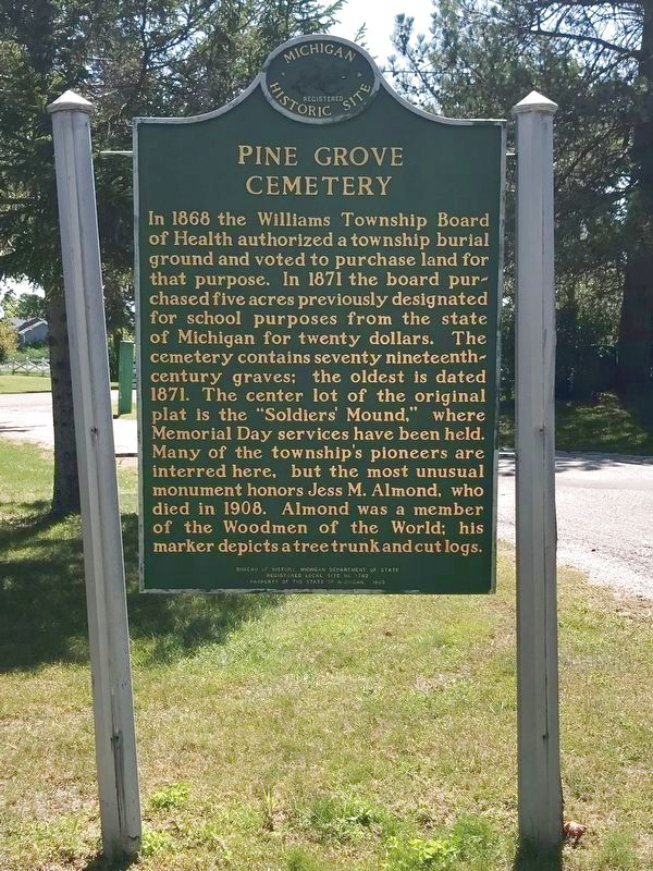 Pine Grove Cemetery Marker image. Click for full size.