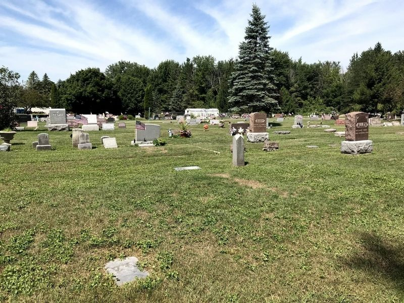 View of some of the gravesites located inside the cemetery. image. Click for full size.