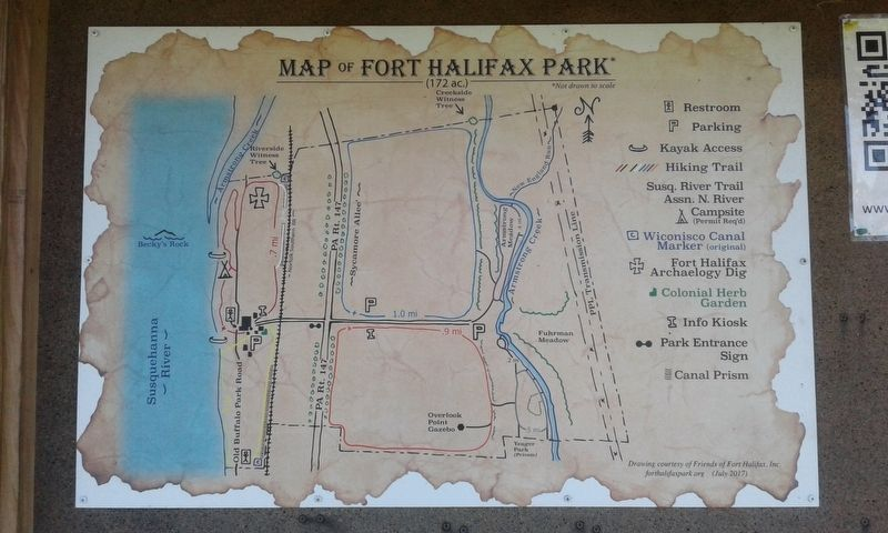 Map of Fort Halifax Park image. Click for full size.