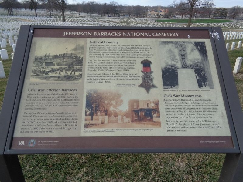 Jefferson Barracks National Cemetery Marker image. Click for full size.