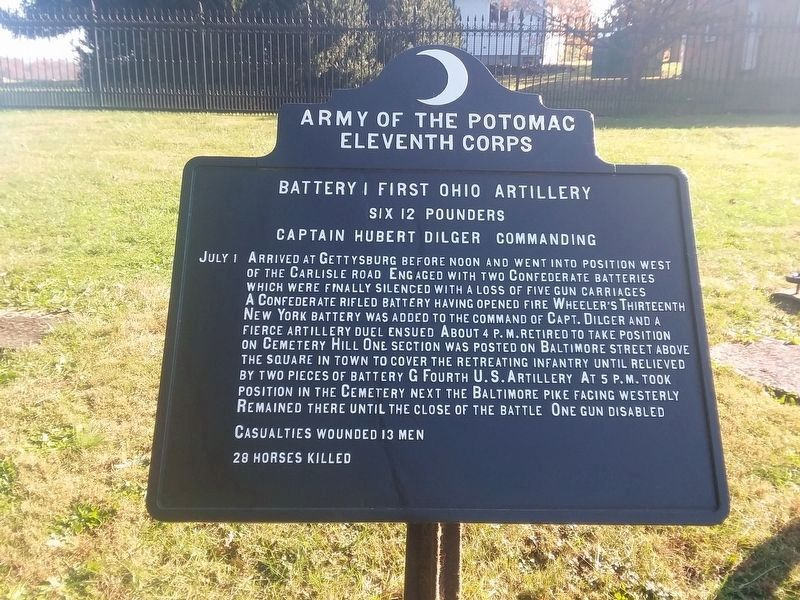 Battery I, First Ohio Artillery Marker image. Click for full size.