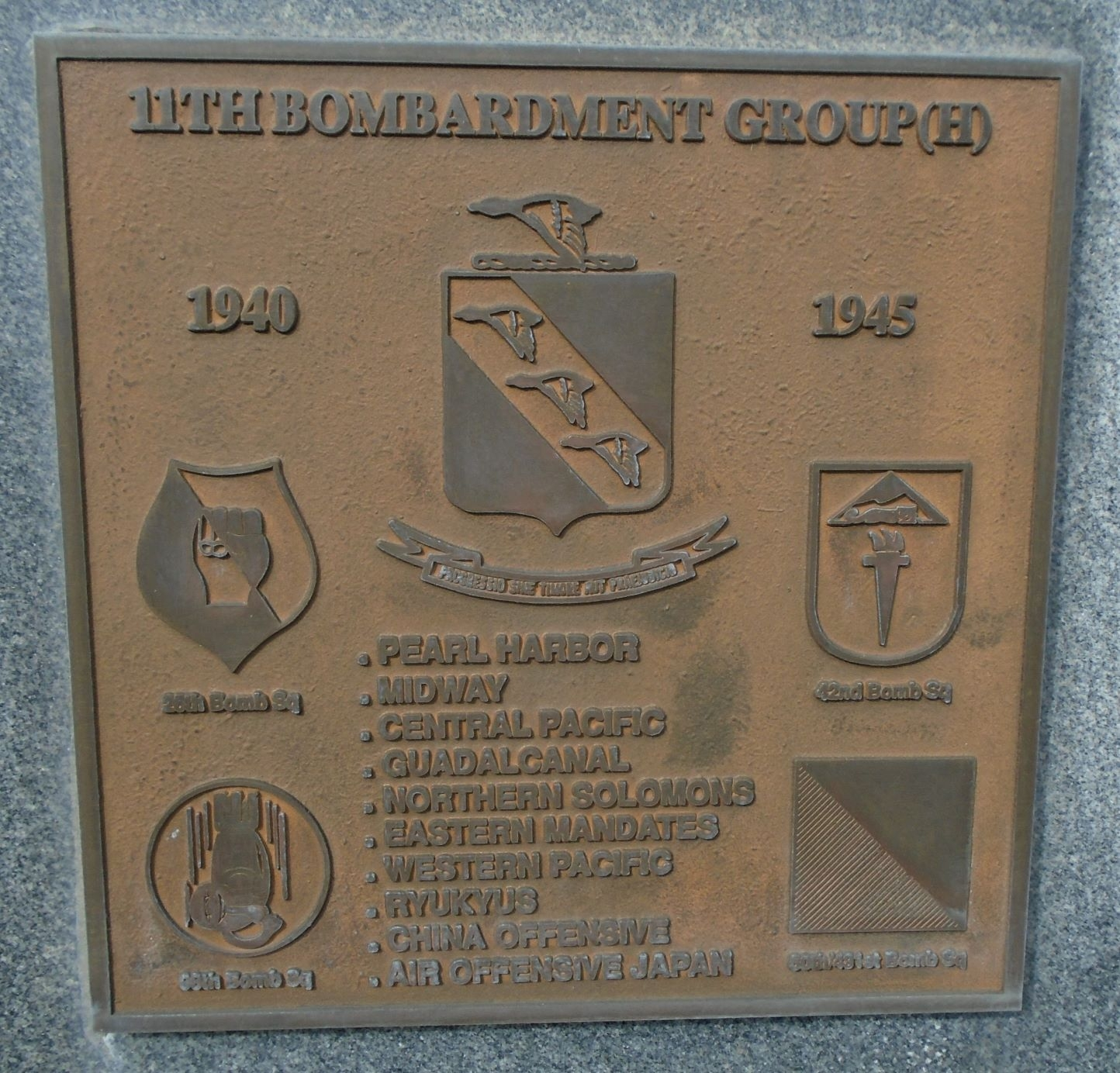 11th Bombardment Group (H) Marker