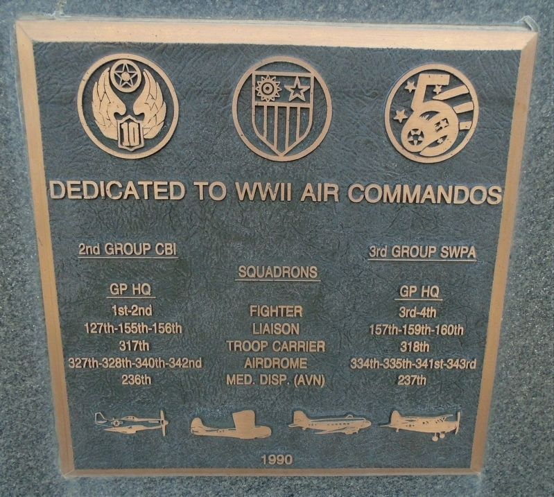 WWII Air Commandos Marker image. Click for full size.