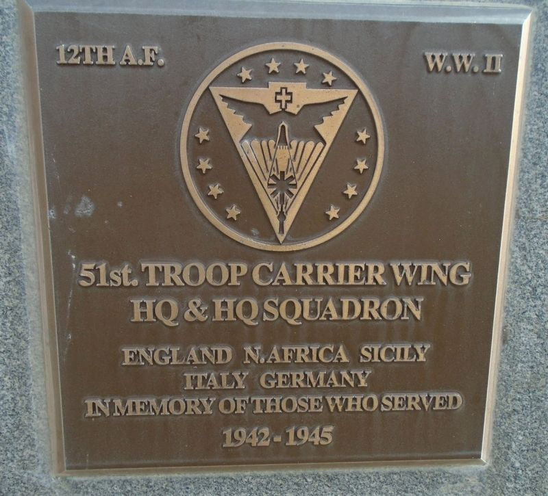 51st. Troop Carrier Wing Marker image. Click for full size.