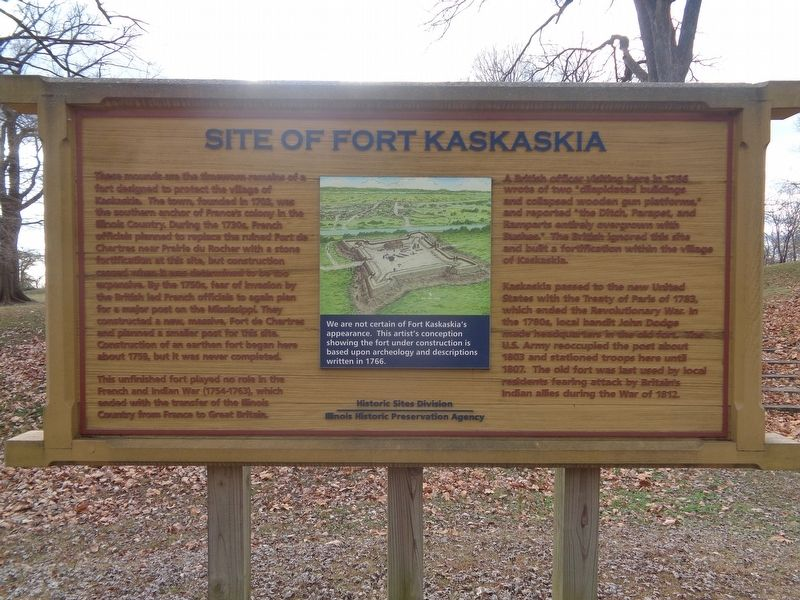 Site of Fort Kaskaskia Marker image. Click for full size.