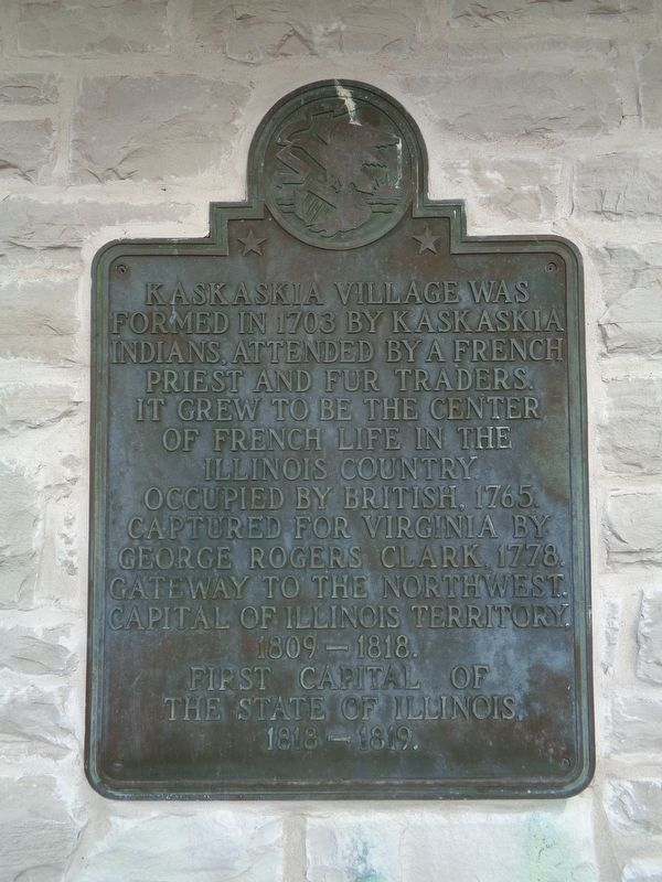 Kaskaskia Village Marker image. Click for full size.