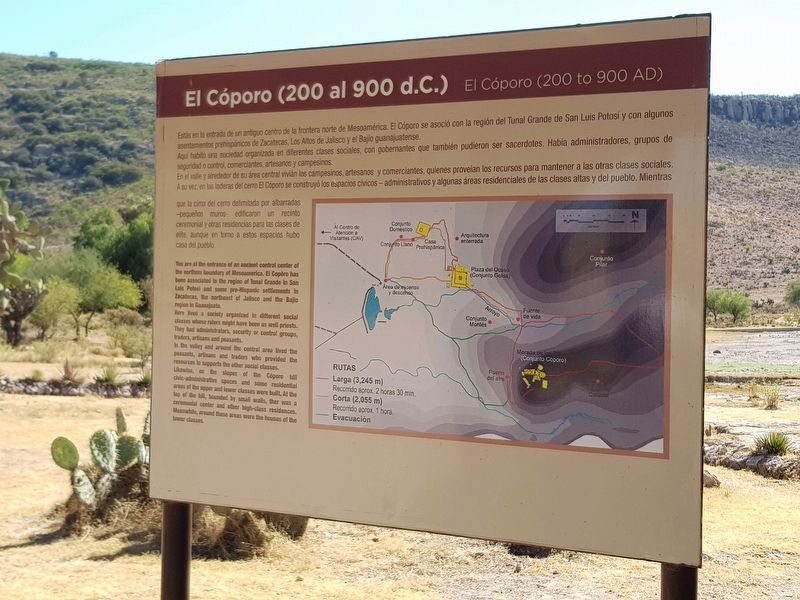 El Cóporo (200 to 900 AD) Marker image. Click for full size.