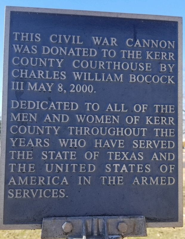 Bocock Civil War Cannon Marker image. Click for full size.