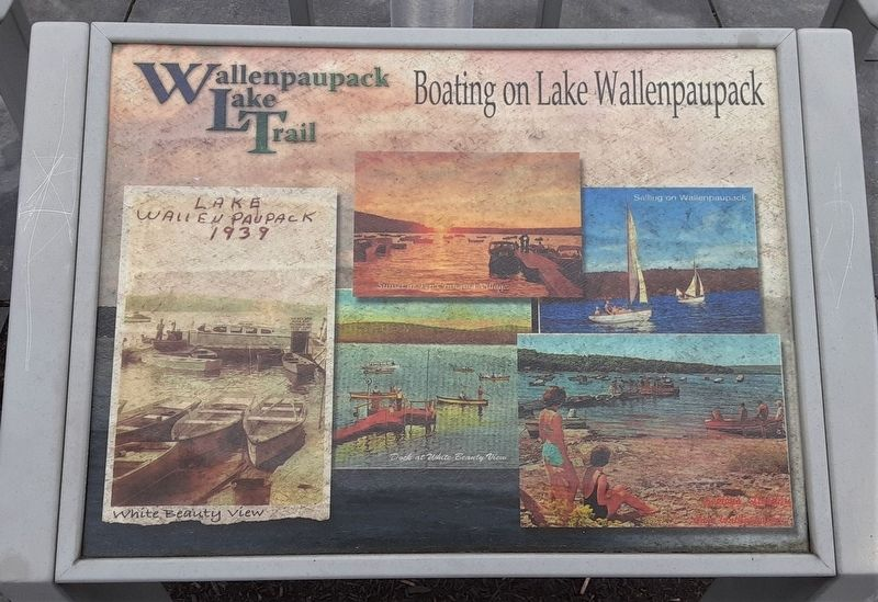 Boating on Lake Wallenpaupack Marker image. Click for full size.
