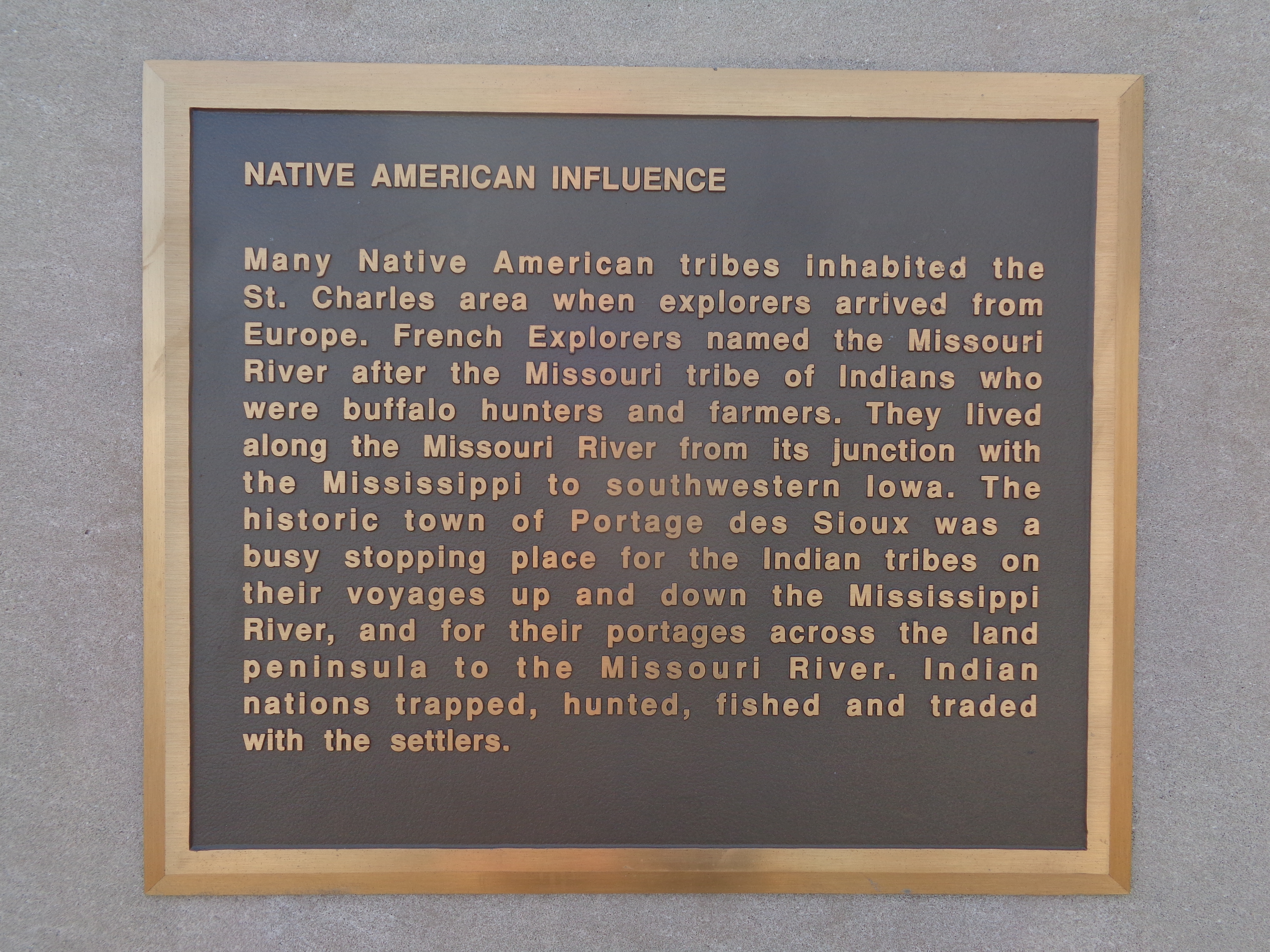 Native American Influence Marker