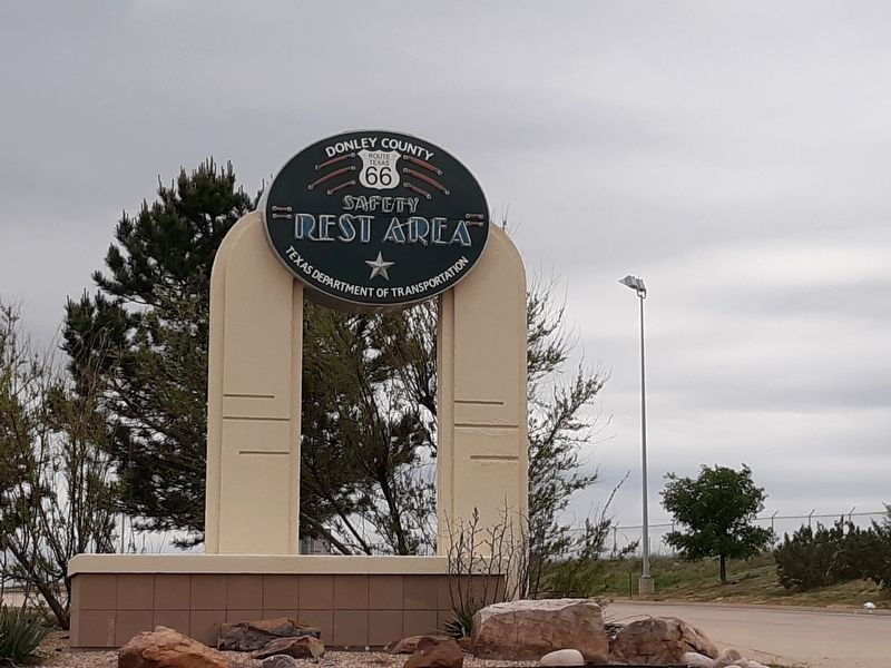 Donley County Historic Route 66 Safety Rest Area Sign image. Click for full size.