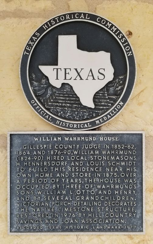 William Wahrmund House Marker image. Click for full size.