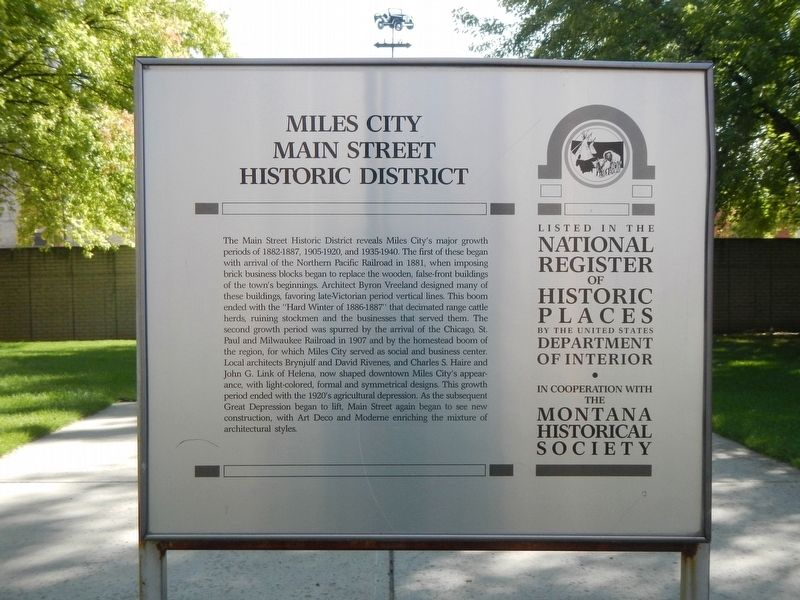 Miles City Main Street Historic District Marker image. Click for full size.