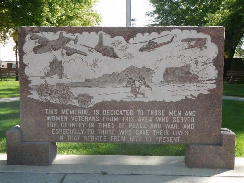 Miles City Veterans Memorial image. Click for full size.